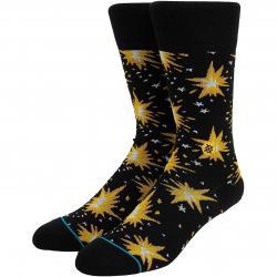Stance Socken Firecracker schwarz/gelb
