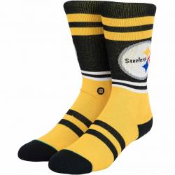 Stance Socken NFL Steelers Logo schwarz/gelb