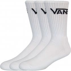 Vans Classic Crew 3er Pack Socken weiß