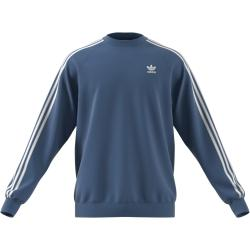 Adidas 3 Stripes Crew Sweatshirt Pullover blau