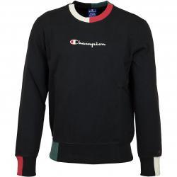 Champion Sweatshirt Logo schwarz
