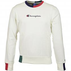 Champion Sweatshirt Logo weiß