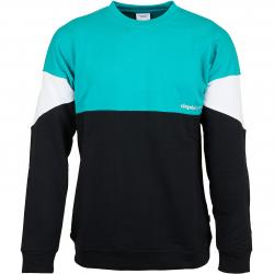 Cleptomanicx Sweatshirt Drop 91 türkis/weiß/schwarz