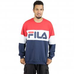 Fila Sweatshirt Urban Line Straight Blocked schwarz/weiß/rot