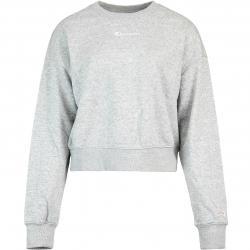 Champion Cropped Damen Sweatshirt grau