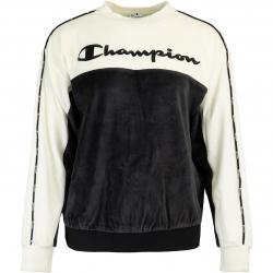 Champion Big Logo Damen Sweatshirt schwarz