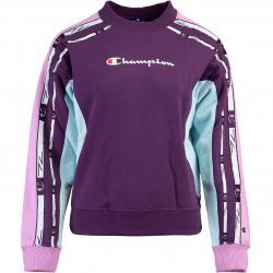 Champion Logo Tape Damen Sweatshirt lila