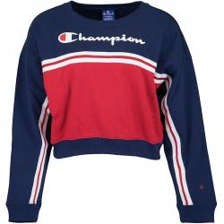 Champion Damen Sweatshirt Croptop dunkelblau/rot