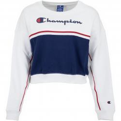 Champion Damen Sweatshirt Croptop weiß/dunkelblau