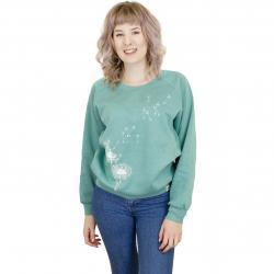 Iriedaily Damen Sweatshirt Pusteblume türkis