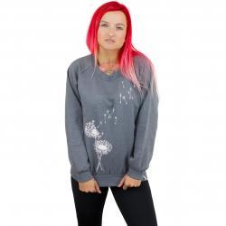 Iriedaily Damen Sweatshirt Pusteblume dunkelgrau meliert
