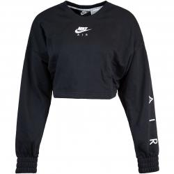 Nike Air Cropped Damen Sweatshirt schwarz