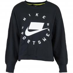 Nike Damen Sweatshirt Boyfriend French Terry schwarz