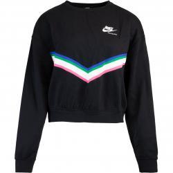 Nike Heritage Damen Sweatshirt Pullover schwarz