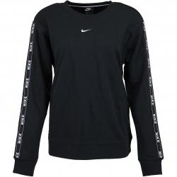 Nike Damen Sweatshirt Logo Tape schwarz/weiß