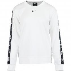 Nike Damen Sweatshirt Logo Tape weiß/schwarz