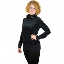 Ragwear Damen Sweatshirt Angel Velvet schwarz