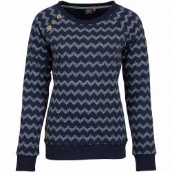 Ragwear Damen Sweatshirt Daria Zig Zag dunkelblau