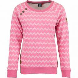 Ragwear Damen Sweatshirt Daria Zig Zag rosa