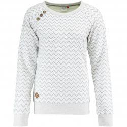 Ragwear Damen Sweatshirt Daria Zig Zag weiß