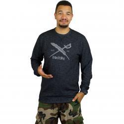 Iriedaily Sweatshirt Slub Logo schwarz meliert