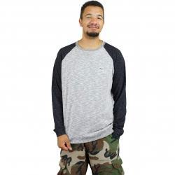 Iriedaily Sweatshirt Slubhead Raglan schwarz/weiß