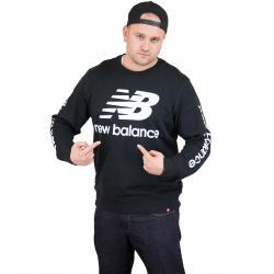 New Balance Sweatshirt Essentials Logo schwarz