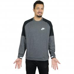 Nike Sweatshirt Advance 15 Fleece dunkelgrau/weiß