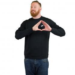 Nike Sweatshirt Club Fleece schwarz/weiß