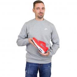 Nike Sweatshirt Fleece Club grau/weiß