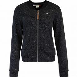 Ragwear Kenia Print Damen Sweatjacke schwarz