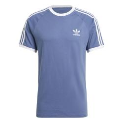 Adidas 3 Stripes T-Shirt blau