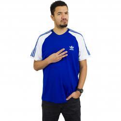 Adidas Originals T-Shirt 3-Stripes royal/weiß