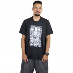 Adidas Originals T-Shirt Camo Label schwarz/camouflage