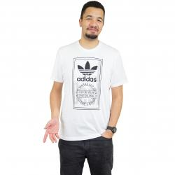 Adidas Originals T-Shirt Tongue Label weiß