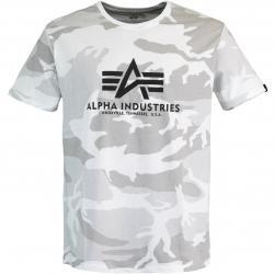 Alpha Industries Basic Camo T-Shirt white camo