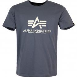 Alpha Industries BAsic T-Shirt grau schwarz