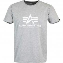 Alpha Industries BAsic T-Shirt grau