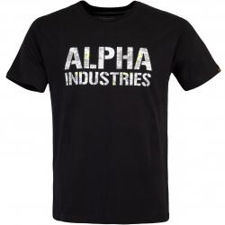 Alpha Industries Camo Print Herren T-Shirt schwarz/camo