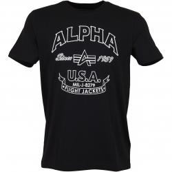 Alpha Industries T-Shirt FJ schwarz