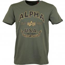 Alpha Industries T-Shirt FJ oliv