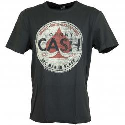 Amplified T-Shirt Johnny Cash Man in black dunkelgrau