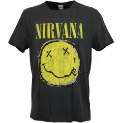 Amplified T-Shirt Nirvana Worn Out Smiley dunkelgrau