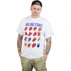 Bravado T-Shirt The Rolling Stones Blue and Lones weiß