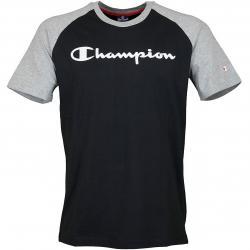 Champion T-Shirt Crewneck Legacy schwarz/grau