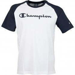 Champion T-Shirt Crewneck Legacy weiß/dunkelblau