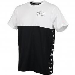 Champion T-Shirt Logo weiß/schwarz