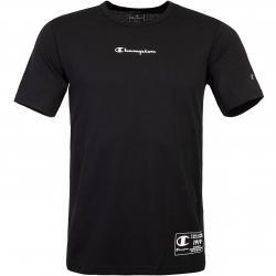Champion Small Logo-Print T-Shirt schwarz