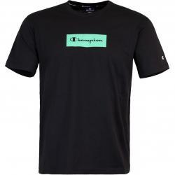 Champion American Logo T-Shirt schwarz/grün