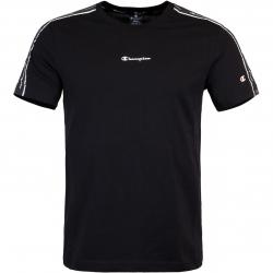 Champion Tape Logo T-Shirt schwarz